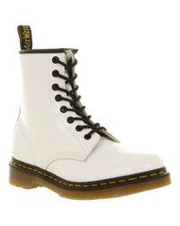 Dr. Martens | White Modern Classics 8eye Patent Boot | Lyst
