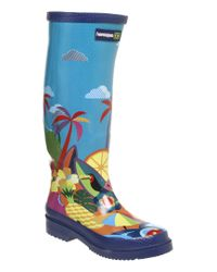 Havaianas Blue Havaianas Tall Welly Always Summer