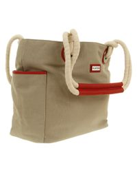 HUNTER Plain Beach Bag aNatural Coir