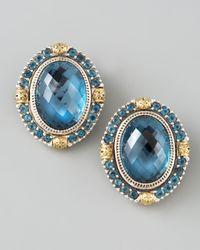 Konstantino | London Blue Topaz Clip Earrings | Lyst