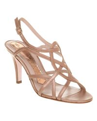 Magrit Metallic High Strappy Sandal Rose Smoke Met