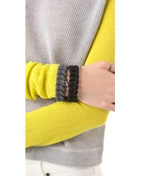 Marc By Marc Jacobs Black Rubber Turnlock Bracelet