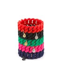 Marc By Marc Jacobs - Green Rubber Turnlock Bracelet - Lyst