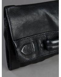 Neil Barrett - Black Leather Clutch - Lyst