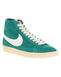 Nike Blue Blazer Hi Suede Vntage Aqua Green for men