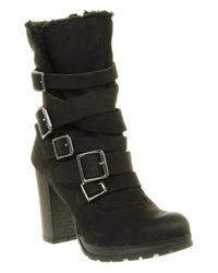 Office Nightcap Boot Black Leather