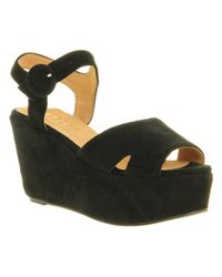 Office Black Whassup Wedge Sandals