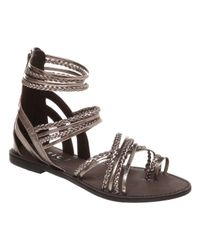 Office Metallic Nippy Loop Gladiator Sandals