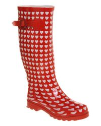 Office Red Nutty Knee Welly