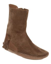 Shofolk Brown Maggie Ankle Boot Coffee Suedelt