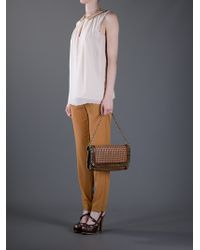 Stella McCartney Brown Chain Detail Bag
