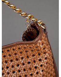 Stella McCartney Brown Woven Bag