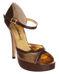 Terry De Havilland Brown Aries Sandal Bronze Leather