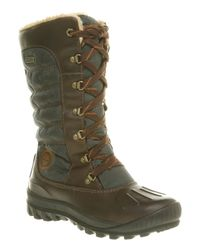 Timberland Mount Holly Duck Boot Browngreen Lth