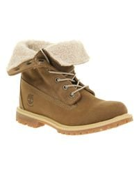 Timberland Brown Authentic Shearling Taupe Nubuck