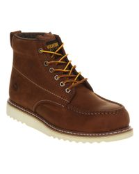 Wolverine Brown Apprentice Wedge Boot Tan Leather for men