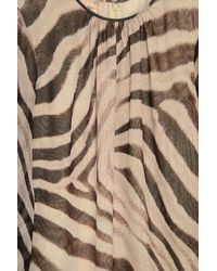 Giambattista Valli Multicolor Long Sleeve Zebra Print Top