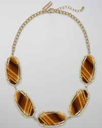 Kendra Scott | Brown Valencia Necklace, Tigers Eye | Lyst