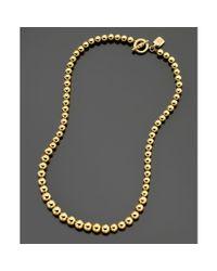 Lauren by Ralph Lauren | Metallic Graduated Goldtone Bead | Lyst