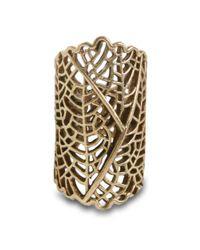 Lucky Brand - Metallic Gold Tone Open Work Ring - Lyst