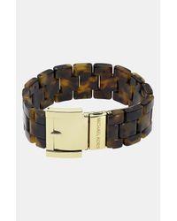 MICHAEL Michael Kors | Metallic Michael Kors Heritage Link Buckle Bracelet | Lyst