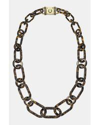MICHAEL Michael Kors | Metallic Michael Kors Heritage Long Link Necklace | Lyst