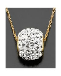 Swarovski | Metallic 14k Gold Crystal Accent Ball Necklace | Lyst