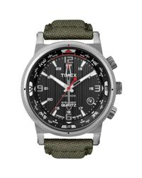 Timex | Mens Intelligent Quartz Compass Olive Green Nylon Canvas Strap 42mm T2n726za for Men | Lyst