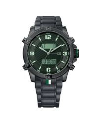 Tommy Hilfiger | Mens Analog Digital Black Silicone Bracelet for Men | Lyst