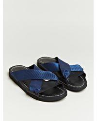 Dries Van Noten Blue Dries Van Noten Mens Cross Strap Sandals for men