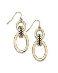 Lauren by Ralph Lauren - Metallic 14k Goldplated Oval Double Link Earrings - Lyst