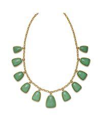 Lauren by Ralph Lauren Green Reconstituted Jade Frontal Necklace