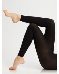 Commando   Black Matte Opaque Footless Tights   Lyst