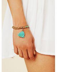 Free People - Green Milly Tassel Bracelet - Lyst