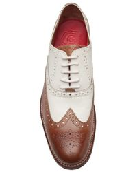Foot The Coacher White Dylan Twotone Oxford for men