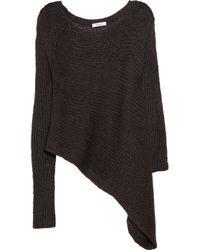 Helmut Lang Gray Asymmetric Sweater