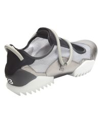Y-3 Gray Sly Bungee Cord Sandal for men