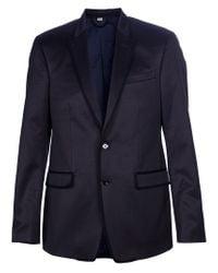 Burberry Blue Crocodile Leather Blazer for men