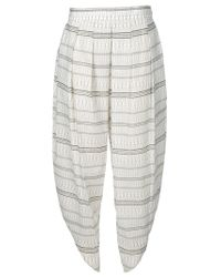 Christophe Lemaire White New Zouave Trousers