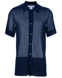 Dolce & Gabbana Blue Seethrough Shirt for men