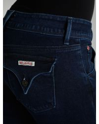 Hudson Jeans Blue Baby Boot Jean in Burgess