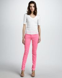 Joe's Jeans | Highrise Skinny Ankle Jeans Hot Pink | Lyst
