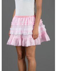 Meadham Kirchhoff Pink Yanet Mini Skirt