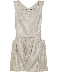 Theyskens' Theory Dilliam Metallic Brocade Mini Dress