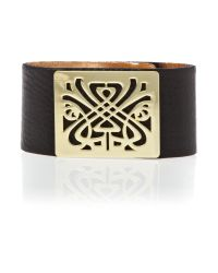 Biba | Black Leather Wrist Cuff | Lyst