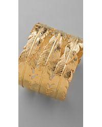 CC SKYE - Metallic Feather Cuff - Lyst