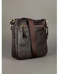 Cesare Paciotti Brown Quilted Shoulder Bag for men