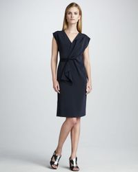 Elie Tahari | Blue Dalia Capsleeve Dress | Lyst