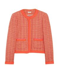 J.Crew Orange Braidtrimmed Tweed Jacket