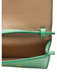 Rochas Green Leather Pouch Purse